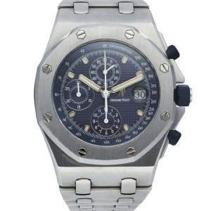 """Audemars Piguet Blue Stainless Steel 25721ST Royal Oak Offshore """"THE BEAST"""" Men's Wristwatch 42 MM"""