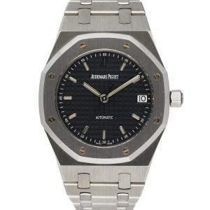 Audemars Piguet Black Stainless Steel Royal Oak 14790ST Men's Wristwatch 36 MM