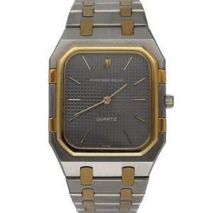 Audemars Piguet Grey 18K Yellow Gold And Stainless Steel Royal Oak 6005SA.0.0477SA.01 Men's Wristwatch 32 MM