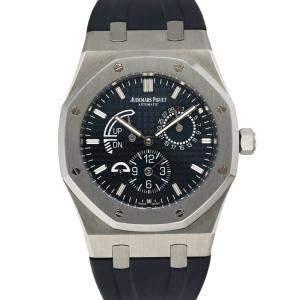 Audemars Piguet Blue Stainless Steel Royal Oak Dual Time 26124ST Men's Wristwatch 39 MM