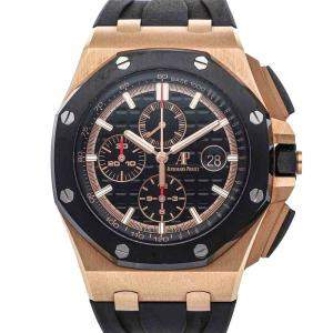 Audemars Piguet Black Rose Gold Royal Oak Offshore Chronograph 26401RO.OO.A002CA.02 Men's Wristwatch 44 MM