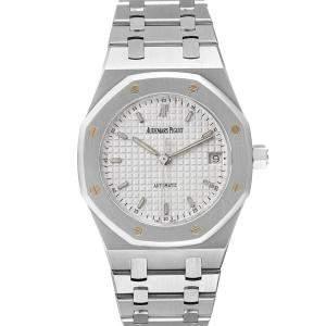 Audemars Piguet White Stainless Steel Royal Oak 14790ST Men's Wristwatch 36 MM