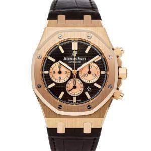 Audemars Piguet Black 18K Rose Gold Royal Oak Chronograph 26331OR.OO.D821CR.01 Men's Wristwatch 41 MM