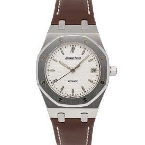 Audemars Piguet Silver Stainless Steel Royal Oak Pictet & Cie Special Edition 15189ST.OO.D083CU.01 Men's Wristwatch 36 MM