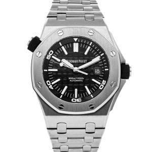 Audemars Piguet Black Stainless Steel Royal Oak Offshore 15703ST.OO.A002CA.01 Men's Wristwatch 42 MM