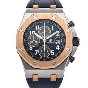 Audemars Piguet Blue 18K Rose Gold And Stainless Steel Royal Oak Offshore Chronograph 26471SR.OO.D101CR.01 Men's Wristwatch 42 MM