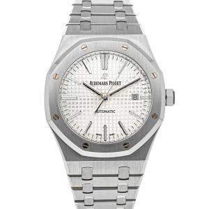 Audemars Piguet Silver Stainless Steel Royal Oak 15400ST.OO.1220ST.02 Men's Wristwatch 41 MM