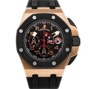 Audemars Piguet Black 18K Rose Gold Royal Oak Offshore Team Alinghi Chronograph Limited Edition 26062OR.OO.A002CA.01 Men's Wristwatch 44 MM