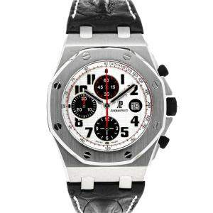 Audemars Piguet White Stainless Steel Royal Oak Offshore Chronograph 26170ST.OO.D101CR.02 Men's Wristwatch 42 MM