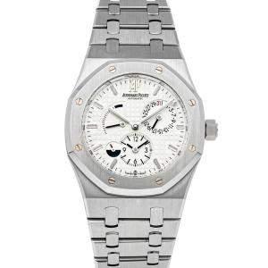 Audemars Piguet Silver Stainless Steel Royal Oak Dual Time 26120ST.OO.1220ST.01 Men's Wristwatch 39 MM