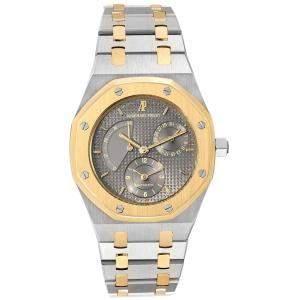 Audemars Piguet Grey 18K Yellow Gold And Stainless Steel Royal Oak 5730 Men's Wristwatch 36 MM