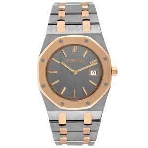 Audemars Piguet Grey 18K Rose Gold And Tantalum Royal Oak 56175 Men's Wristwatch 34 MM
