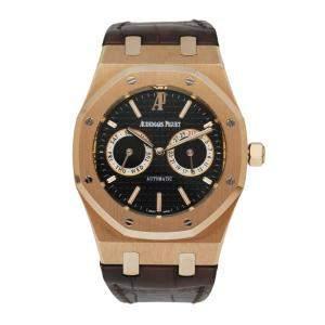 Audemars Piguet Black 18K Rose Gold Royal Oak 26330OR Men's Wristwatch 39 MM