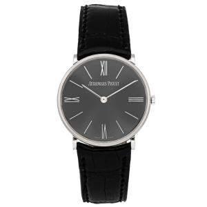 Audemars Piguet Grey Platinum Jules Audemars 14667PT.OO.A001CR.01 Men's Wristwatch 32 MM