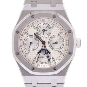 Audemars Piguet Silver Stainless Steel Royal Oak Perpetual 26574ST.00.1220ST.01 Automatic Men's Wristwatch 41  MM