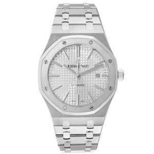Audemars Piguet White Stainless Steel Royal Oak 15400ST Men's Wristwatch 41 MM