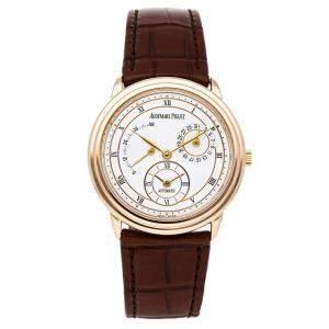 Audemars Piguet White 18K Yellow Gold Jules Audemars 25685BA.0.0002 Men's Wristwatch 36 MM