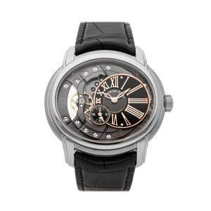 Audemars Piguet Black Stainless Steel Millenary 4101 15350ST.OO.D002CR.01 Men's Wristwatch 47 MM