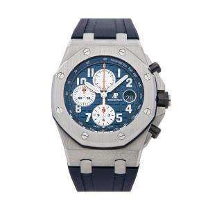Audemars Piguet Blue Stainless Steel Royal Oak Offshore Chronograph 26470ST.OO.A027CA.01 Men's Wristwatch 42 MM