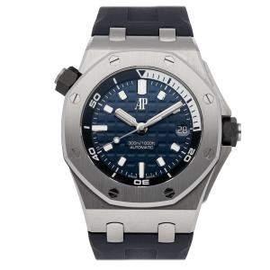 Audemars Piguet Blue Stainless Steel Royal Oak Offshore Diver 15720ST.OO.A027CA.01 Men's Wristwatch 42 MM