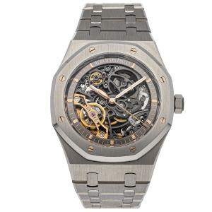 Audemars Piguet Grey Stainless Steel Royal Oak 15407ST.OO.1220ST.01 Men's Wristwatch 41 MM
