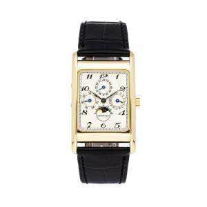 Audemars Piguet White 18K Yellow Gold Edward Piguet Annual Calendar 25682BA.OO.A002XX.02 Men's Wristwatch 35 x 27 MM