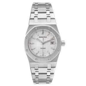 Audemars Piguet Silver Stainless Steel Royal Oak 15000ST Men's Wristwatch 33 MM