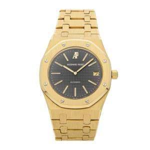 Audemars Piguet Black 18K Yellow Gold Royal Oak 5402BA Men's Wristwatch 39 MM