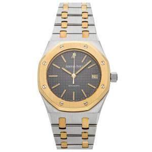Audemars Piguet Grey 18k Yellow Gold And Stainless Steel Royal Oak 14790SA.OO.0789SA.01 Men's Wristwatch 36 MM