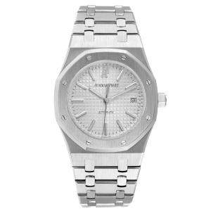Audemars Piguet White Stainless Steel Royal Oak 15300ST Men's Wristwatch 39 MM