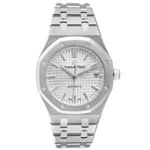 Audemars Piguet Silver Stainless Steel Royal Oak 15450ST Automatic Men's Wristwatch 37 MM