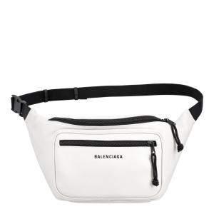 حقيبة خصر بالنسياغا إكسبلورر جلد مُحبب بيضاء