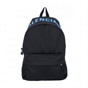 Balenciaga Black Nylon Wheel Backpack