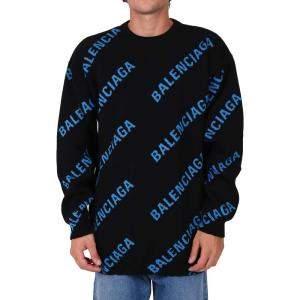 Balenciaga Black Logo Jacquard Jumper Size XS