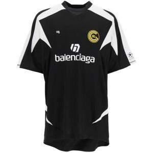 Balenciaga Black Soccer Print T-Shirt Size M