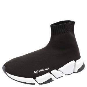 Balenciaga Speed 2.0 Black/White Trainers Size EU 40