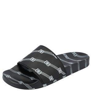 Balenciaga Black Logo Pool Slides Size EU 41
