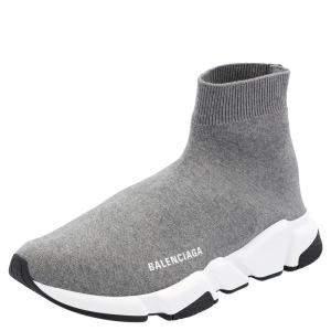 Balenciaga Grey Speed Sneakers Size EU 42