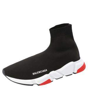 Balenciaga Black Knit Speed Sock Sneakers Size EU 42