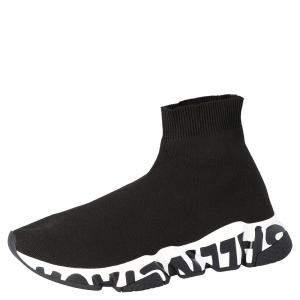 حذاء رياضي بالنسياغا غرافيتي سبيد تريكو أسود مقاس أوروبي 43