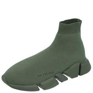 Balenciaga Green Knit Speed.2 Sneakers Size EU 43