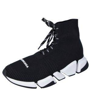 حذاء رياضي بالنسياغا قماش تريكو أسود سبيد ترينر برباط مقاس 44