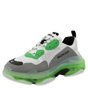 Balenciaga Green Triple S Sneaker 'Clear Sole'  Sneakers Size EU 40