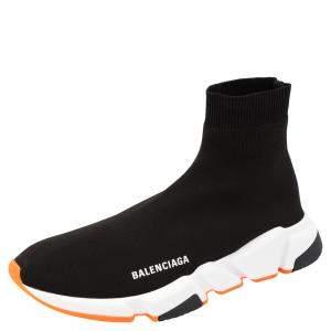 حذاء رياضي بالنسياغا سبيد برتقالي و أبيض و أسود مقاس 40