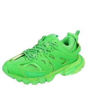Balenciaga Neon Green Track Sneakers Size EU 42