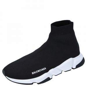 Balenciaga Black Speed Trainers Sneakers Size EU 43