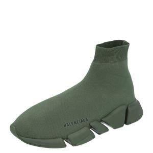 Balenciaga Green Khaki Speed Sneakers Size 42