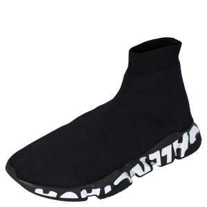 حذاء رياضي بالنسياغا غرافيتي سبيد تريكو أسود مقاس أوروبي 41