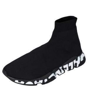 حذاء رياضي بالنسياغا سبيد غرافيتي تريكو أسود مقاس أوروبي 43