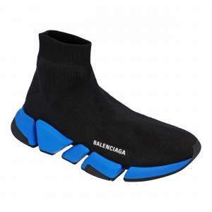 Balenciaga Black/Blue Speed 2.0 Sneakers EU 42